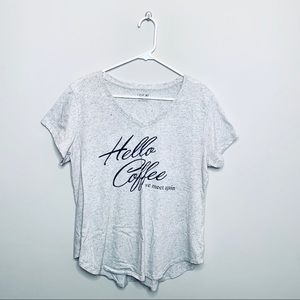 "✨ ""Hello Coffee We Meet Again"" Graphic Tee ✨"